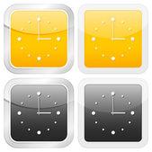 Square icon clock — Stock Vector