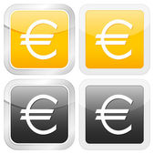 Euro icône carrée — Vecteur