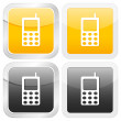 Stock Vector: Square icon mobile phone