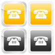 Square icon telephone — Stock Vector