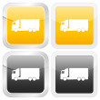 Square icon truck — Stock Vector #5748683