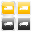 Square icon van — Stock Vector