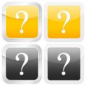 Square icon question — Stock Vector