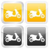 Square icon scooter — Stock Vector