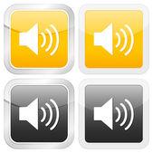 Square icon sound — Stock Vector