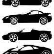 Stock Vector: Sport cars vector set 2