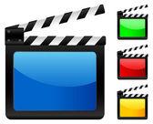 Digital film slate — Stock Vector
