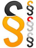 Paragraph symbol icon — Stock Vector