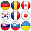 National flag icon set 3 — Stockvectorbeeld