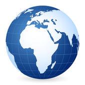 Blue world globe — Stock Vector