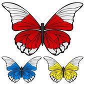 Conjunto mariposa — Vector de stock