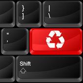 Computer button recycle — Stock Vector