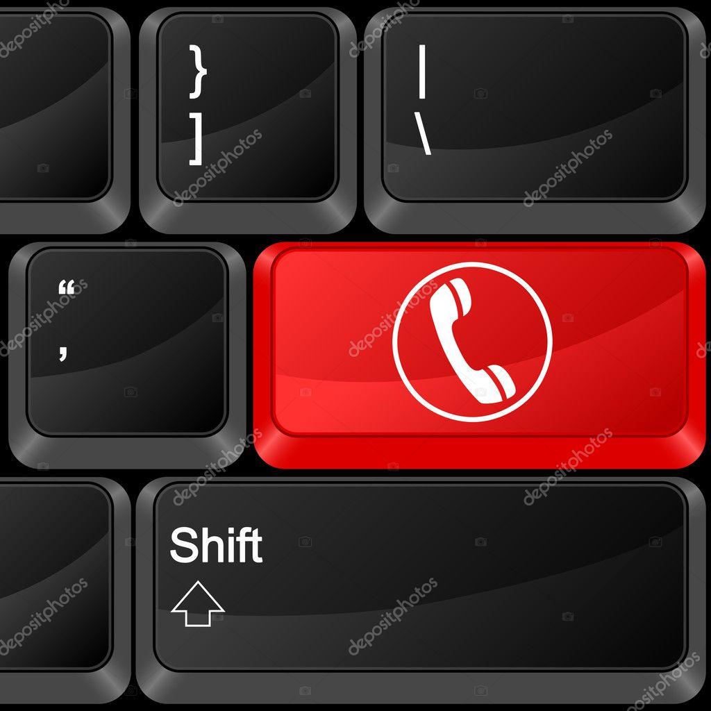 键盘计算机按钮电话.矢量插画— 矢量图片作者 julydfg