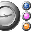 Royalty-Free Stock Vector Image: Sphere button airplane