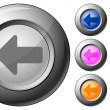 Royalty-Free Stock Vector Image: Sphere button arrow left