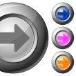 Royalty-Free Stock Vector Image: Sphere button arrow right