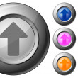 Royalty-Free Stock Vector Image: Sphere button arrow up