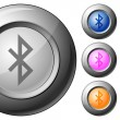 Stock Vector: Sphere button bluetooth