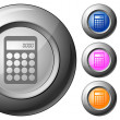 Stock Vector: Sphere button calculator