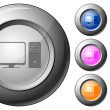 Royalty-Free Stock Vector: Sphere button computer