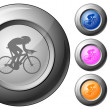 Sphere button cycling — Stock Vector