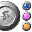 Stock Vector: Sphere button cycling