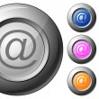 Sphere button email — Stock Vector