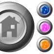 Sphere button house — Stock Vector #6471777