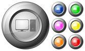 Sphere button computer — Stock Vector