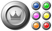 Sphere button crown — Stock Vector