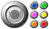 Sphere button dishware — Stock Vector