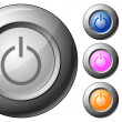 Royalty-Free Stock Vector Image: Sphere button power