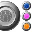 Stock Vector: Sphere button soccer