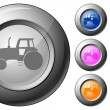 Sphere button tractor — Stock Vector
