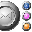 Sphere button mail — Stock Vector