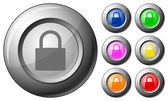 Sphere button padlock — Stock Vector