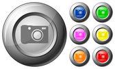Küre düğme fotoğraf — Stok Vektör