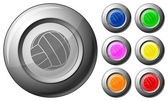 Sphere button voleyball — Vector de stock