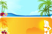 Two summer banners — Stock Vector