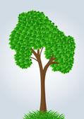 Vector summer tree — Stock Vector