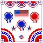 National American symbolics — Stock Vector