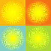 Sunburst abstract background — Vector de stock
