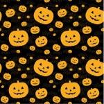 naadloze patroon met pumpkins op achtergrond — Stockvector