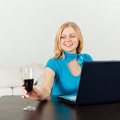 Business Woman Celebrating Her Success — Stock Photo