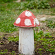 Garden Decorative Amanita Statue — Stock Photo #5633673