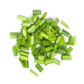 Fresh Chopped Leek — Stock Photo