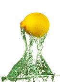 Lemon Jumps from Water — Stock Photo