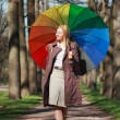 Beautiful Woman with Umbrella — Stock Photo