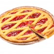 Sliced Cherry Pie — Stock Photo