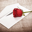 Red Rose and Letter — Stock Photo #6376638